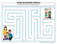 Fiches d'activité-Famille