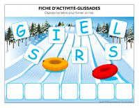 Fiches d'activité-Glissades