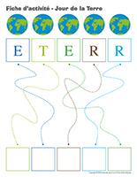 Fiches d'activité-Jour de la Terre