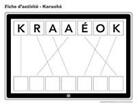 Fiches d'activité-Karaoké