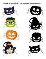 Fiches d'activité-La parade d'Halloween