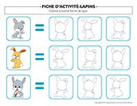Fiches d'activité-Lapins