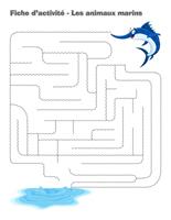 Fiches d'activité-Les animaux marins
