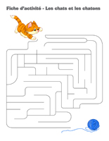 Fiches d'activité-Les chats et les chatons