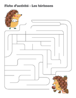 Fiches d'activité-Les hérissons