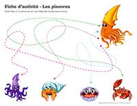 Fiches d'activité-Les pieuvres