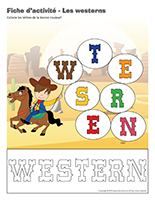 Fiches d'activité-Les westerns