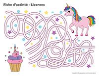 Fiches d'activité-Licornes