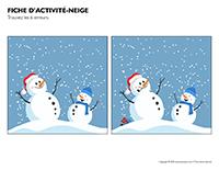 Fiches d'activité-Neige