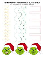 Fiches d'activité-Noël-heureux ou grincheux