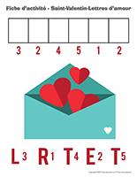 Fiches d'activité-Saint-Valentin-Lettres d'amour