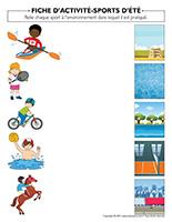 Fiches d'activité-Sports d'été