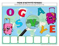 Fiches d'activité-Voyages