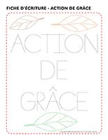 Fiches d'écriture-Action de grâce