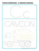 Fiches d'écriture-C comme Camion 2020