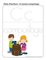 Fiches d'écriture-C comme compostage