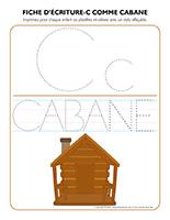 Fiches d'écriture-C pour Cabane