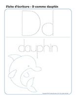 Fiches d'écriture-D comme Dauphin