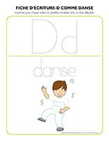 Fiches d'écriture-D comme danse