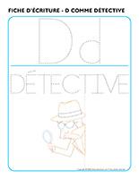 Fiches d'écriture-D comme détective