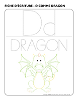 Fiches d'écriture-D comme dragon