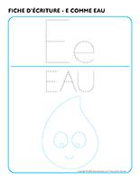 Fiches d'écriture-E comme eau