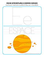 Fiches d'écriture-E comme espace