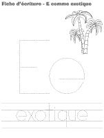 Fiches d'écriture-E comme exotique