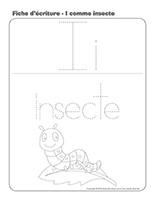 Fiches d'écriture-I comme Insecte