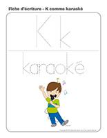 Fiches d'écriture-K comme Karaoké