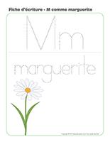 Fiches d'écriture M comme-Marguerite
