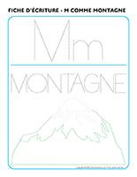 Fiches d'écriture-M comme montagne