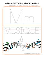 Fiches d'écriture-M pour musique