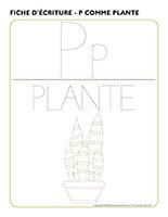Fiches d'écriture-P comme plante