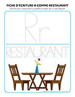 Fiches d'écriture-R comme restaurant