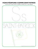 Fiches-d'écriture-S-comme-Saint-Patrick