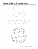 Fiches d'écriture-S comme soccer