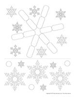 Fiches éduca-nouilles-Flocons de neige