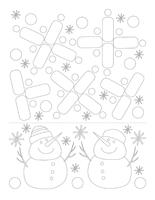 Fiches éduca-nouilles-Sculpture de neige