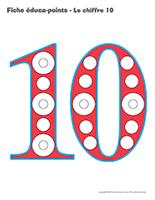 Fiches éduca-points-Le chiffre 10