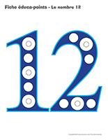 Fiches éduca-points-Le nombre 12