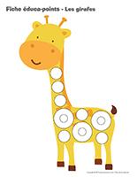 Fiches éduca-points-Les girafes