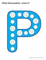 Fiches éduca-points-Lettre P motricité activité