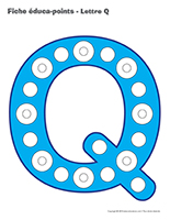 Fiches éduca-points-Lettre Q