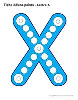 Fiches éduca-points-Lettre X