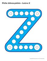 Fiches éduca-points-Lettre Z