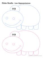 Fiches ficelle-Les hippopotames