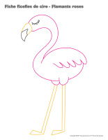 Fiches-ficelle de cire-Flamants roses-1