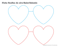 Fiches-ficelle de cire Saint-Valentin