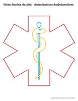 Fiches ficelles de cire-Ambulanciers-Ambulancières